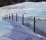 plastic snow fence