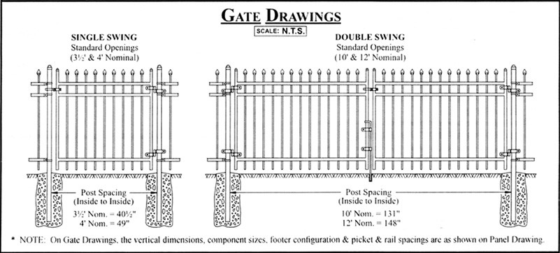 Ornamental Fence Gate Drawing