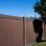 durable dark pvc fencing